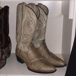 Vintage Ostrich Leg Cowboy Boots